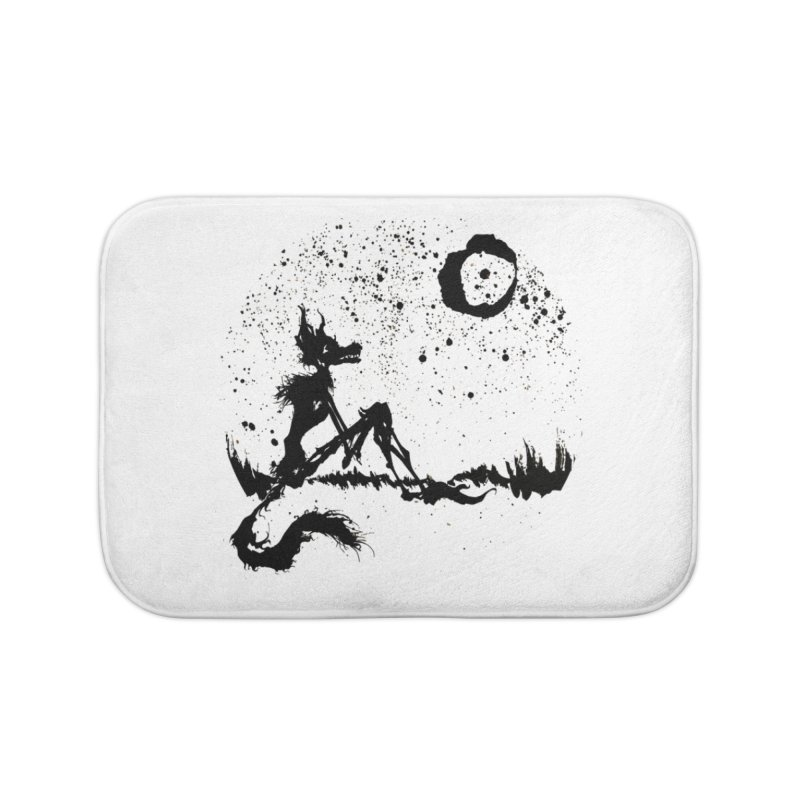 I Wish I Was The Moon Home Bath Mat by ashewednesday's Artist Shop