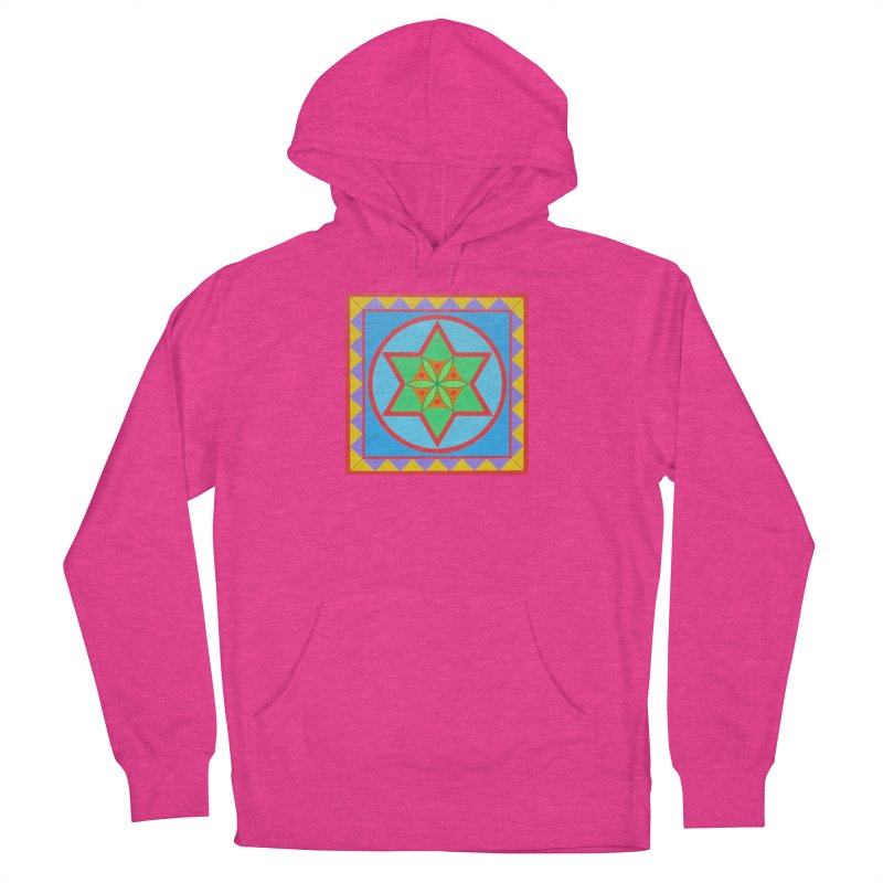 Emerging Flower Men's French Terry Pullover Hoody by By the Ash Tree