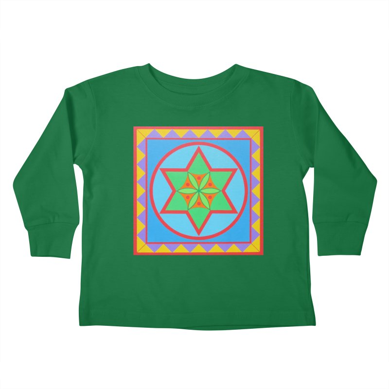 Emerging Flower Kids Toddler Longsleeve T-Shirt by By the Ash Tree