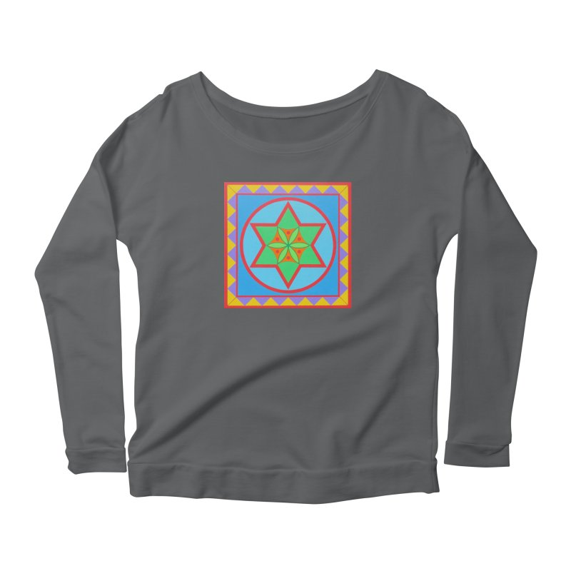 Emerging Flower Women's Scoop Neck Longsleeve T-Shirt by By the Ash Tree