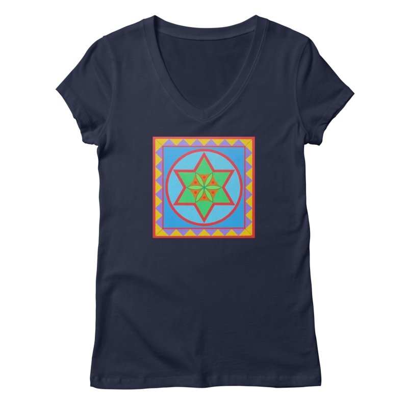 Emerging Flower Women's Regular V-Neck by By the Ash Tree