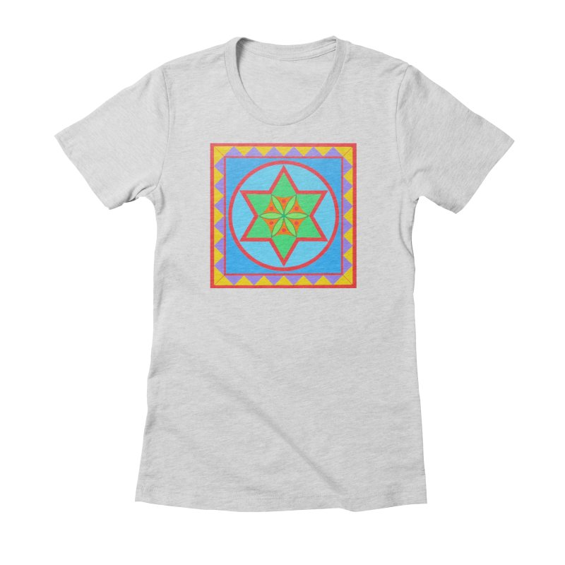 Emerging Flower Women's Fitted T-Shirt by By the Ash Tree