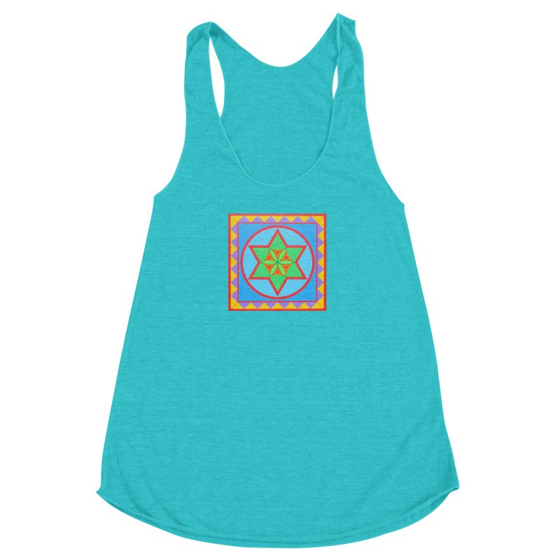 Emerging Flower Women's Racerback Triblend Tank by By the Ash Tree