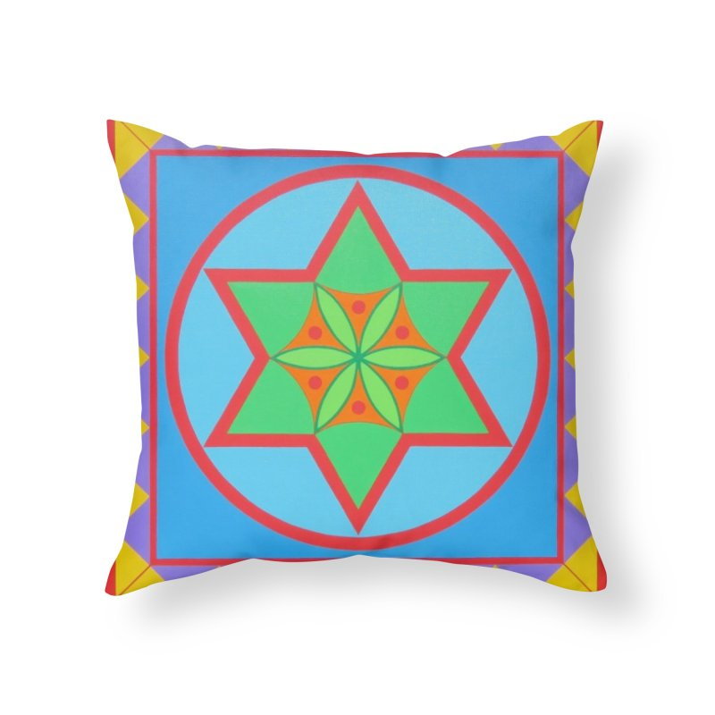 Emerging Flower Home Throw Pillow by By the Ash Tree
