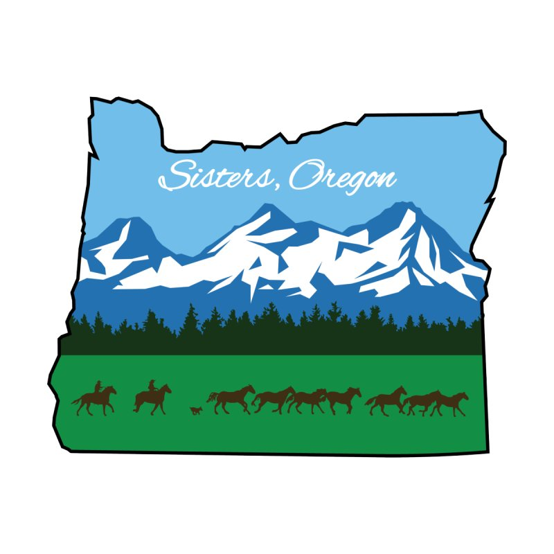 Sisters, Oregon [Alternate] by AshleyMakes @ Threadless