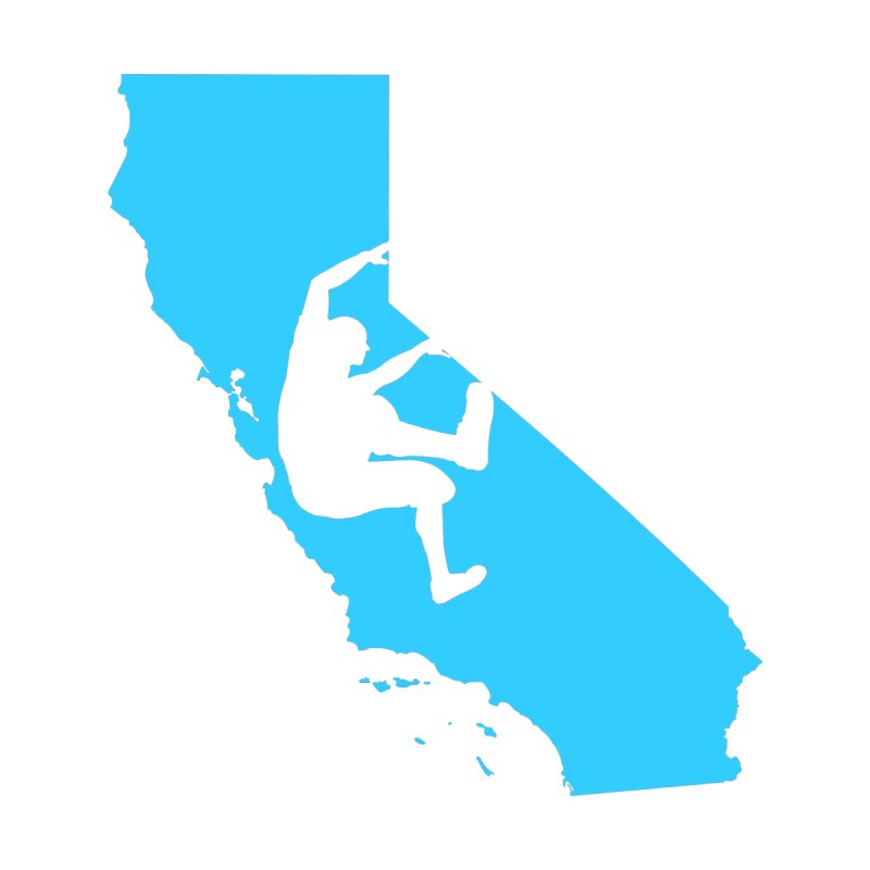 California Free Hang Bouldering Climber by AshleyMakes @ Threadless