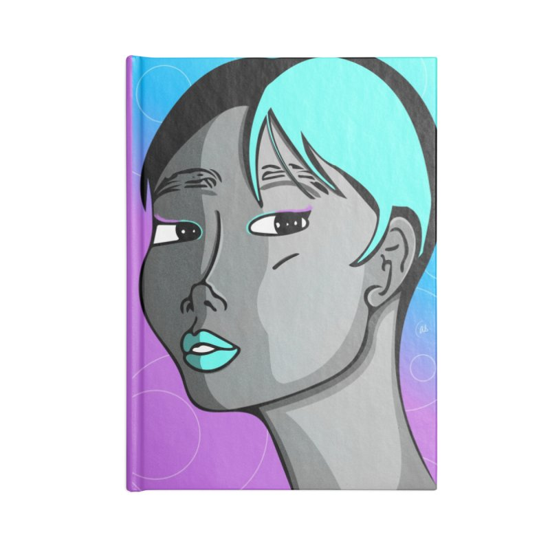 Lady Neon Accessories Notebook by ashleysladeart's Artist Shop
