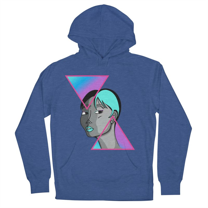 Lady Neon Women's French Terry Pullover Hoody by ashleysladeart's Artist Shop