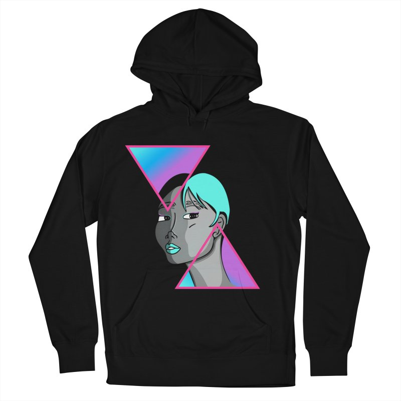 Lady Neon Men's French Terry Pullover Hoody by ashleysladeart's Artist Shop