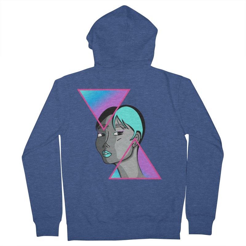 Lady Neon Women's French Terry Zip-Up Hoody by ashleysladeart's Artist Shop