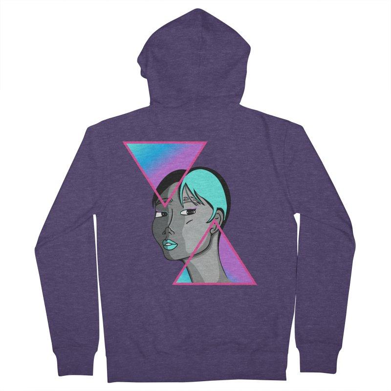 Lady Neon Men's French Terry Zip-Up Hoody by ashleysladeart's Artist Shop