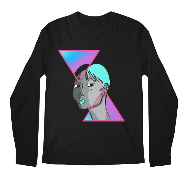 Lady Neon Men's Regular Longsleeve T-Shirt by ashleysladeart's Artist Shop