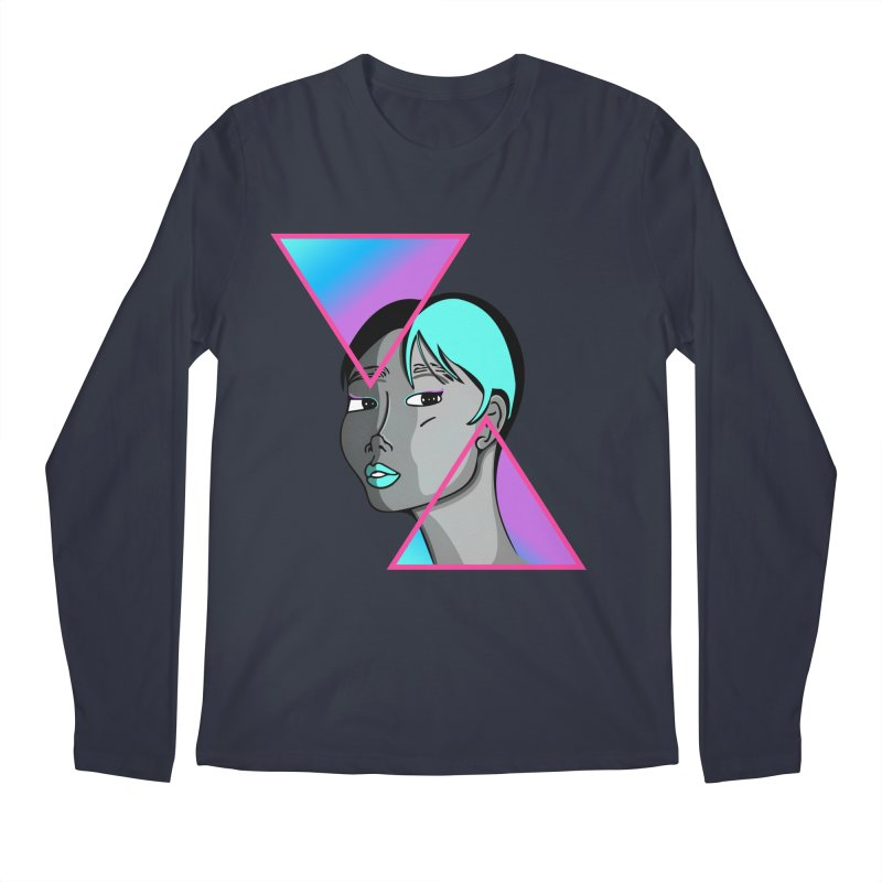 Lady Neon Men's Regular Longsleeve T-Shirt by ashleysladeart's Artist Shop