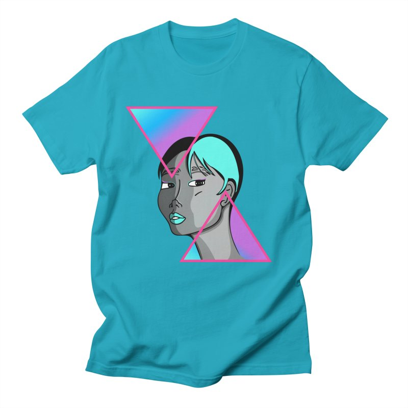 Lady Neon Women's Regular Unisex T-Shirt by ashleysladeart's Artist Shop