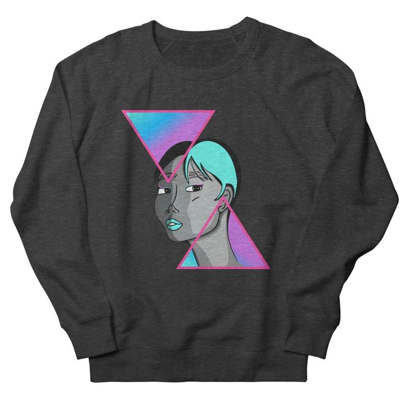 Lady Neon Women's French Terry Sweatshirt by ashleysladeart's Artist Shop