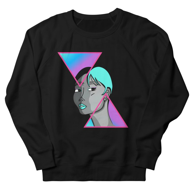 Lady Neon Men's French Terry Sweatshirt by ashleysladeart's Artist Shop