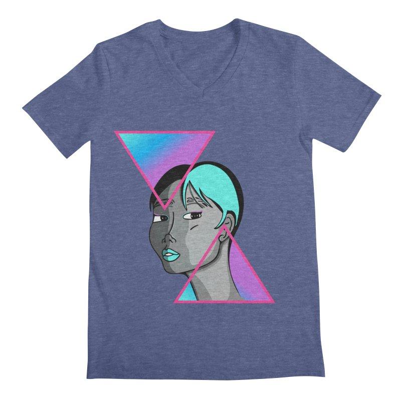 Lady Neon Men's Regular V-Neck by ashleysladeart's Artist Shop