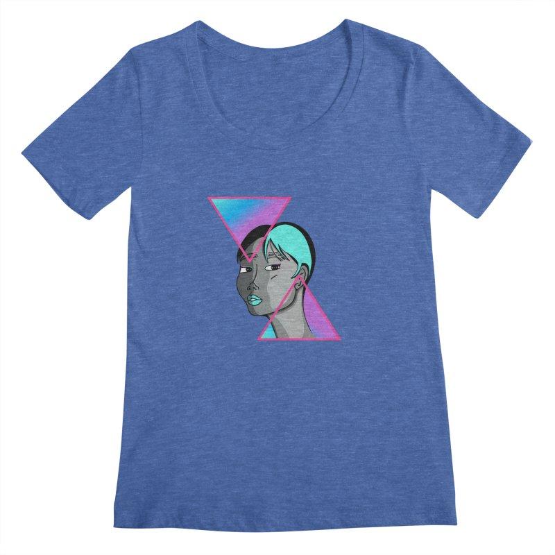 Lady Neon Women's Regular Scoop Neck by ashleysladeart's Artist Shop