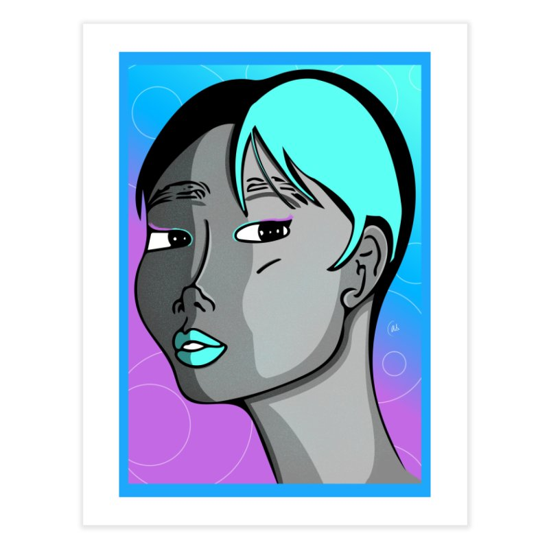 Lady Neon Home Fine Art Print by ashleysladeart's Artist Shop