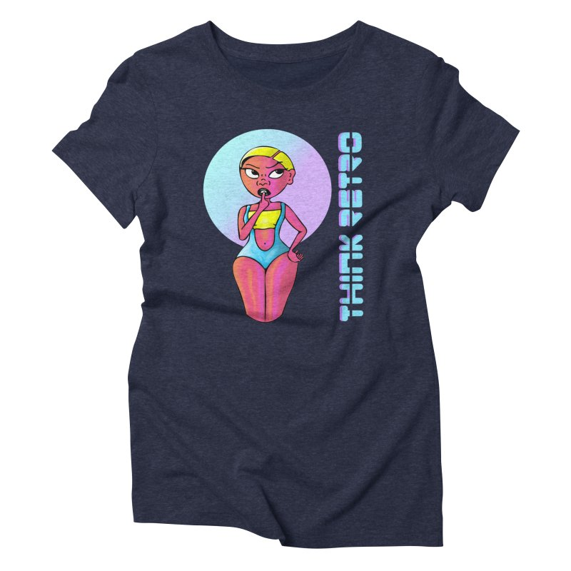 Think Retro Women's Triblend T-Shirt by ashleysladeart's Artist Shop