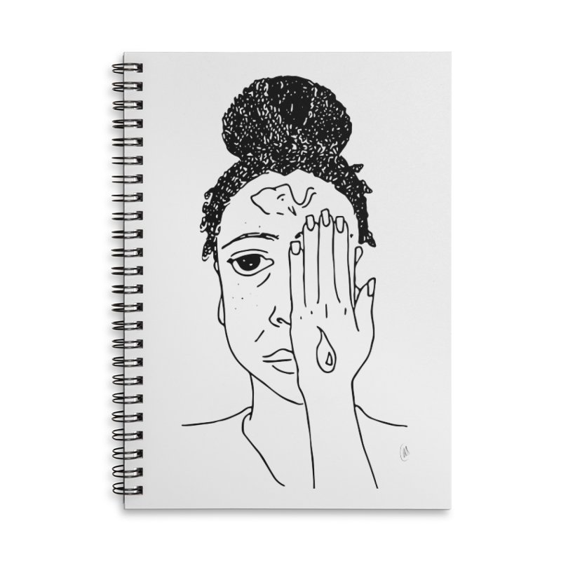Thoughts Accessories Lined Spiral Notebook by ashleysladeart's Artist Shop