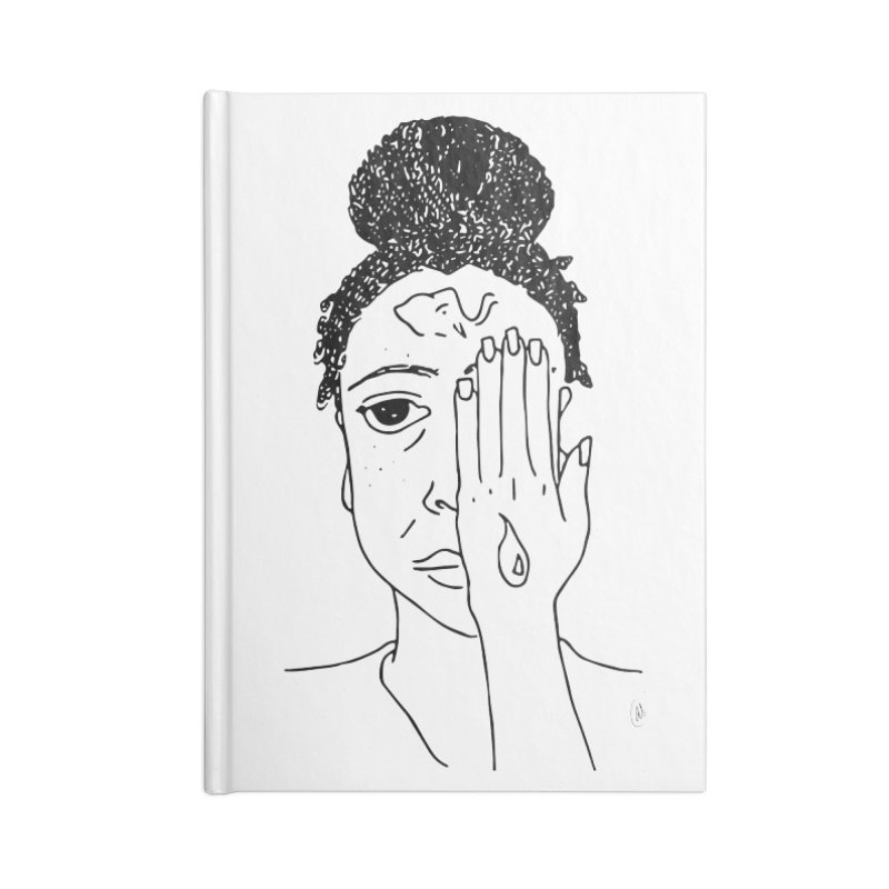 Thoughts Accessories Lined Journal Notebook by ashleysladeart's Artist Shop