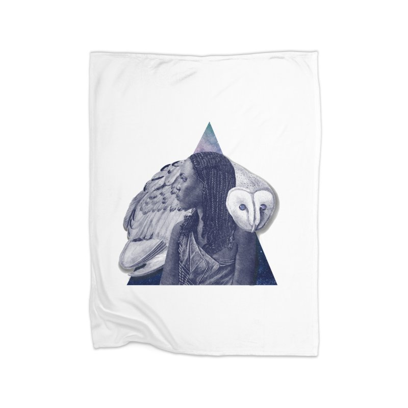Wisdom Home Fleece Blanket Blanket by ashleysladeart's Artist Shop