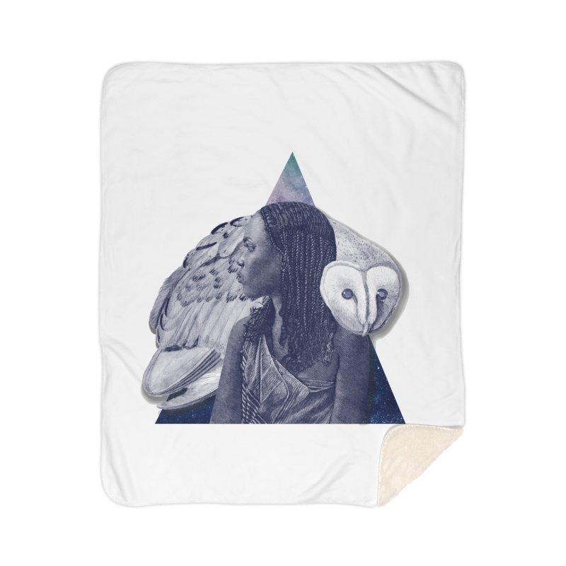 Wisdom Home Sherpa Blanket Blanket by ashleysladeart's Artist Shop