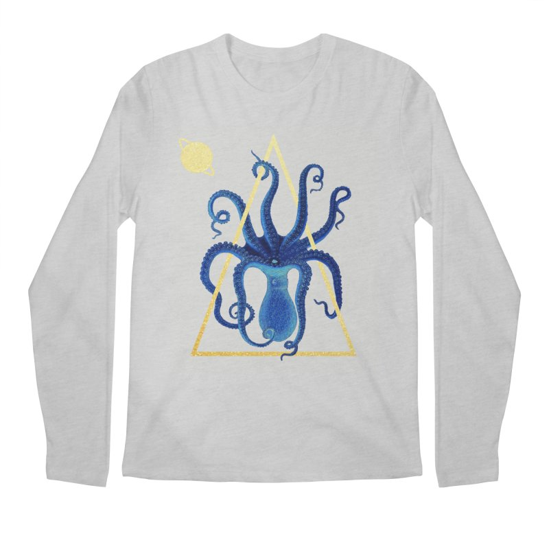 Celestial Cephalopod Men's Regular Longsleeve T-Shirt by ashleysladeart's Artist Shop