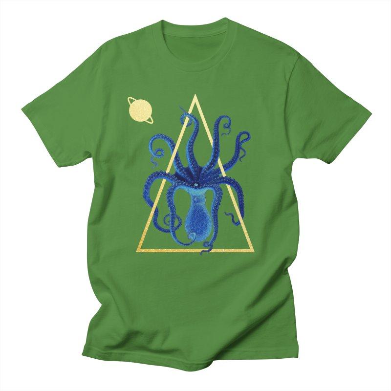 Celestial Cephalopod Men's Regular T-Shirt by ashleysladeart's Artist Shop