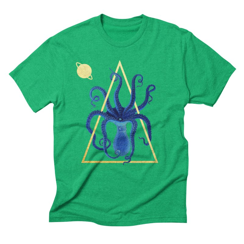 Celestial Cephalopod Men's Triblend T-Shirt by ashleysladeart's Artist Shop