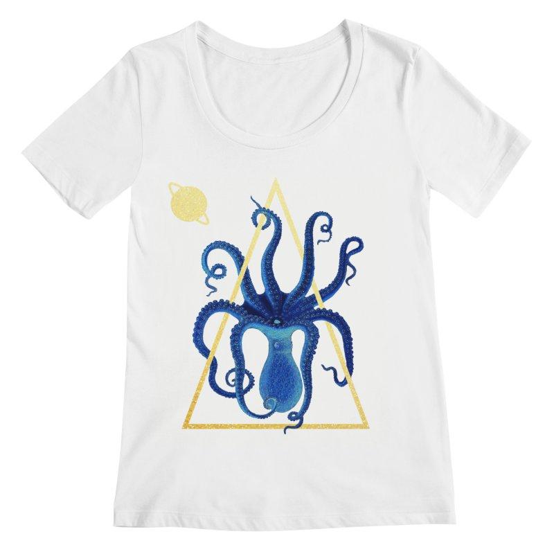 Celestial Cephalopod Women's Regular Scoop Neck by ashleysladeart's Artist Shop