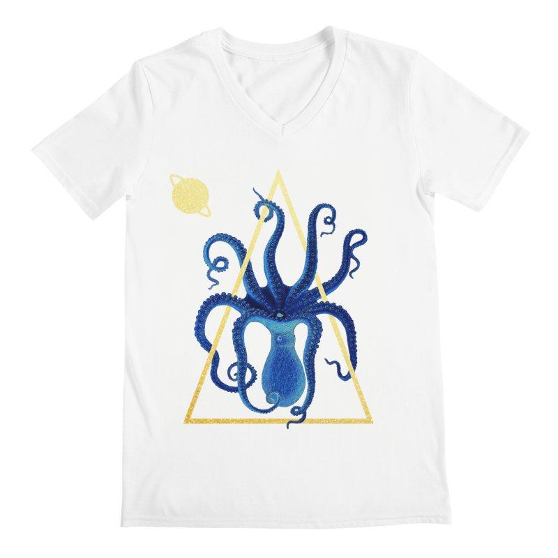 Celestial Cephalopod Men's Regular V-Neck by ashleysladeart's Artist Shop