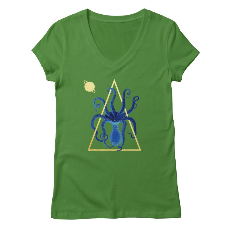Celestial Cephalopod Women's Regular V-Neck by ashleysladeart's Artist Shop