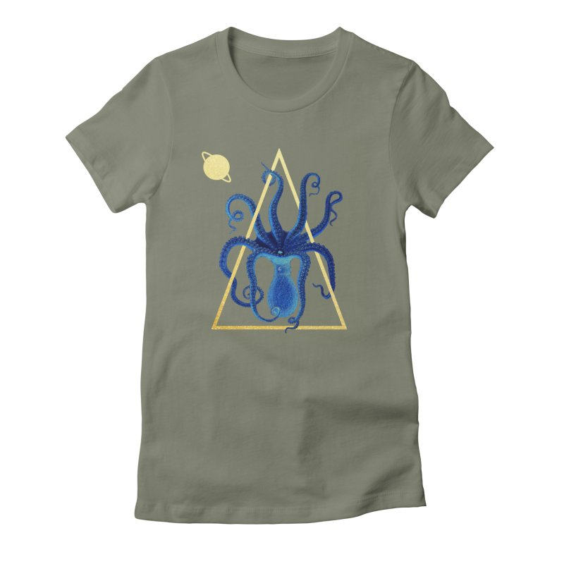 Celestial Cephalopod Women's Fitted T-Shirt by ashleysladeart's Artist Shop