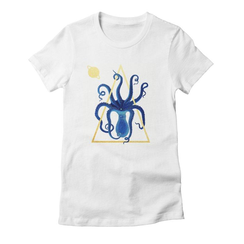 Celestial Cephalopod Women's Fitted T-Shirt by ashleysladeart's Artist Shop