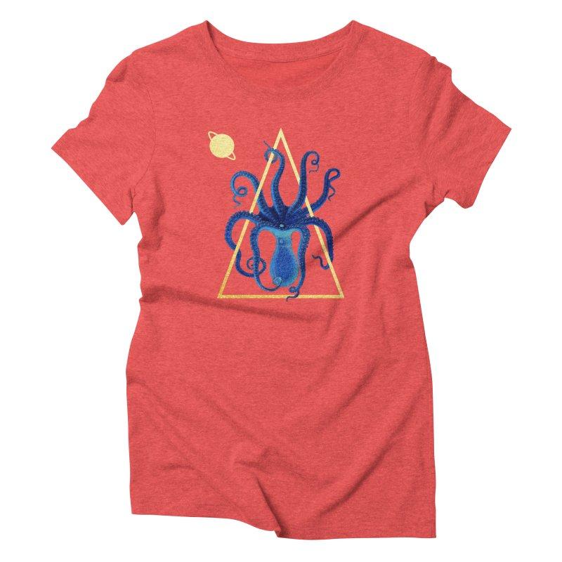 Celestial Cephalopod Women's Triblend T-Shirt by ashleysladeart's Artist Shop