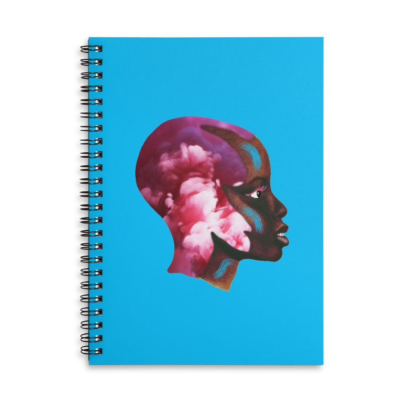 Day Dreamer Accessories Lined Spiral Notebook by ashleysladeart's Artist Shop