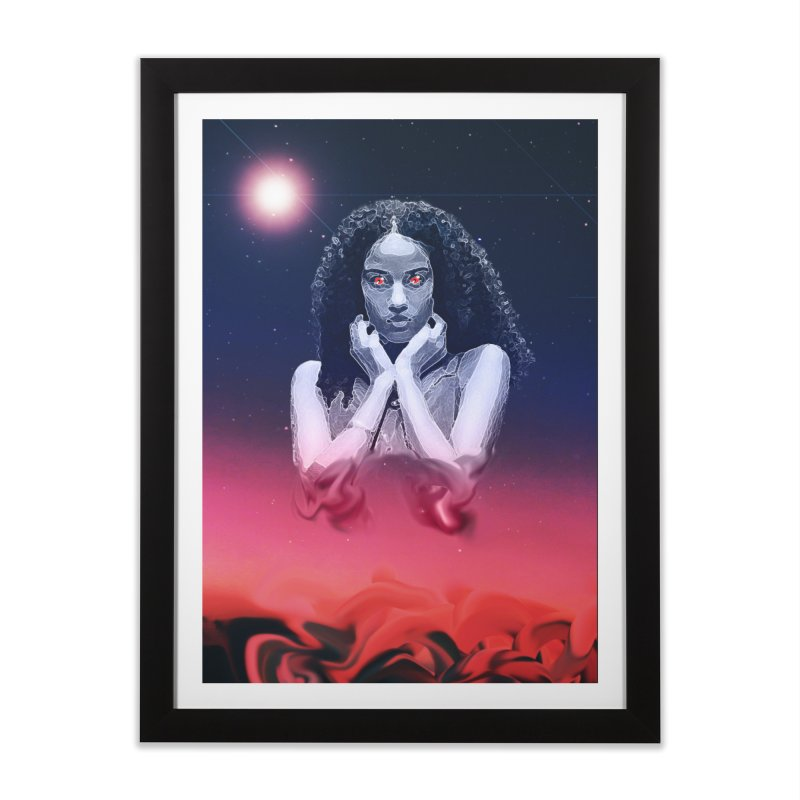The Overseer in Framed Fine Art Print Black by ashleysladeart's Artist Shop