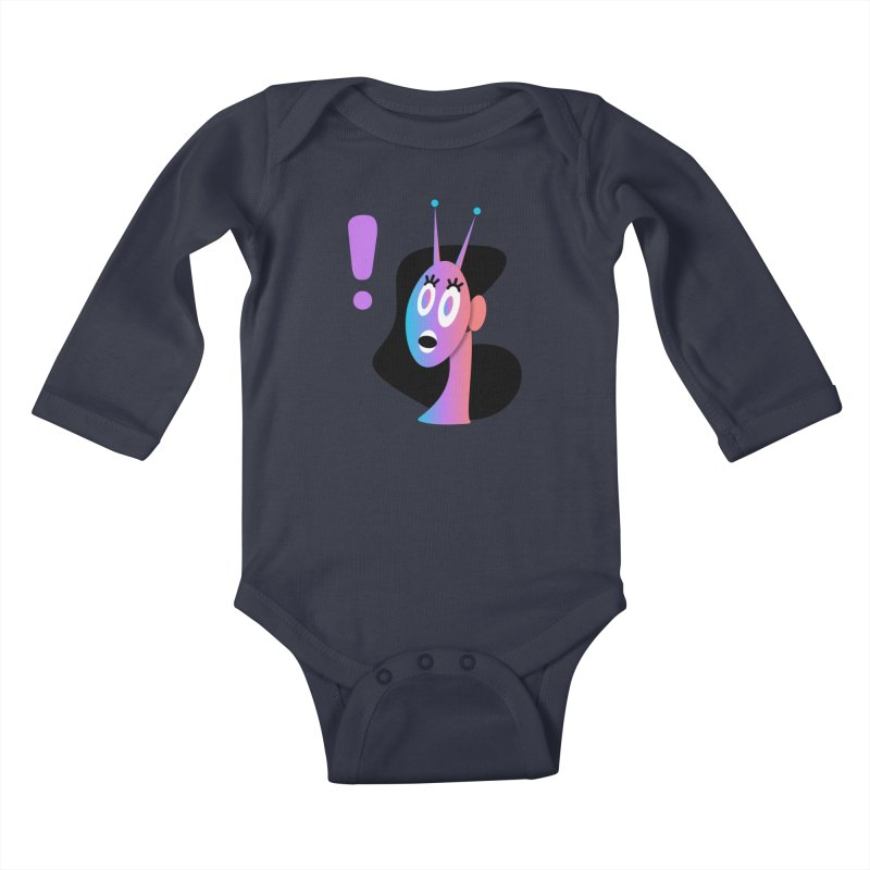 Shock! Kids Baby Longsleeve Bodysuit by ashleysladeart's Artist Shop