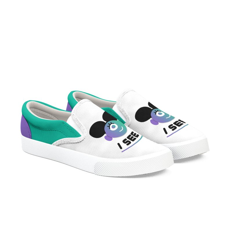 I See You! Women's Slip-On Shoes by ashleysladeart's Artist Shop