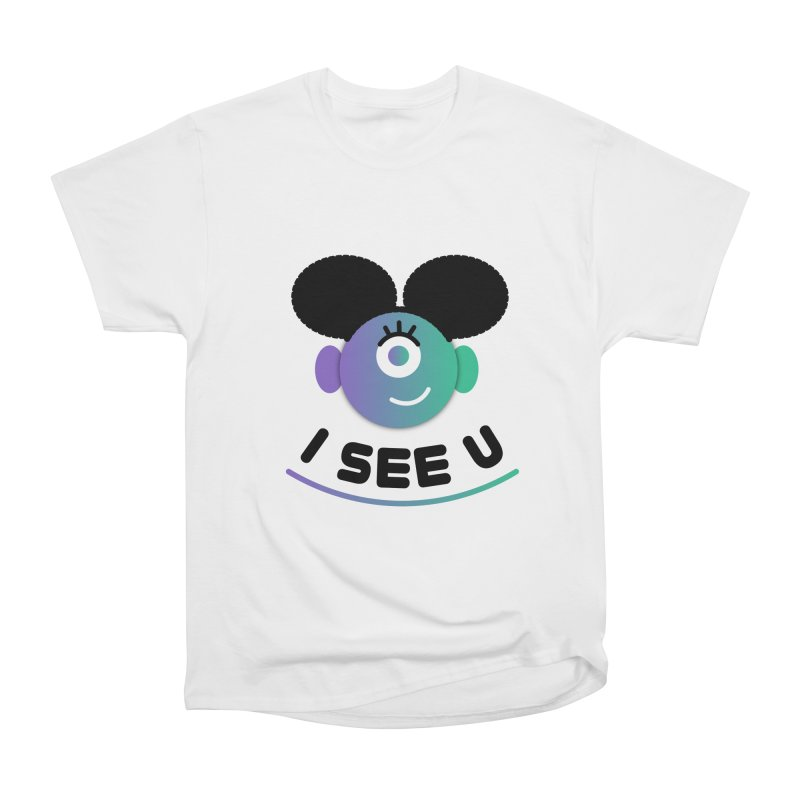 I See You! Women's Heavyweight Unisex T-Shirt by ashleysladeart's Artist Shop