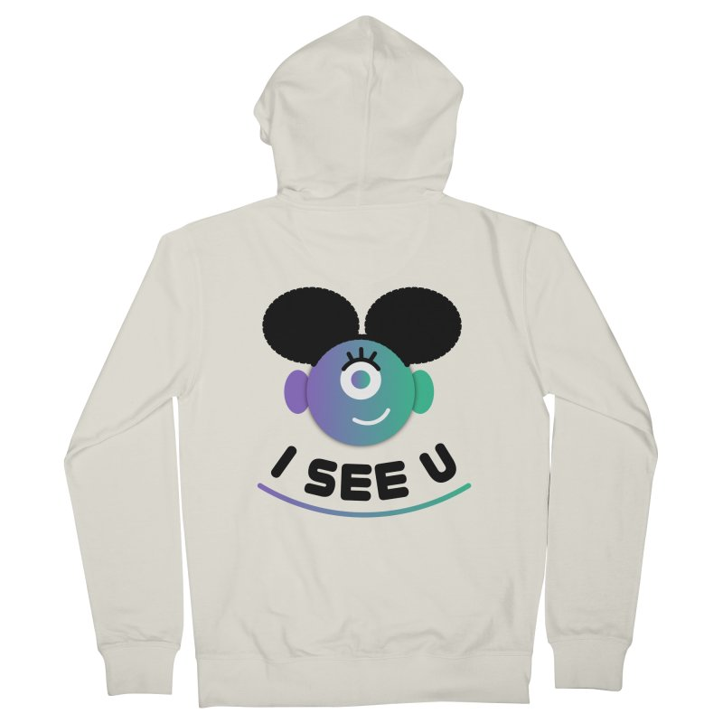 I See You! Men's French Terry Zip-Up Hoody by ashleysladeart's Artist Shop