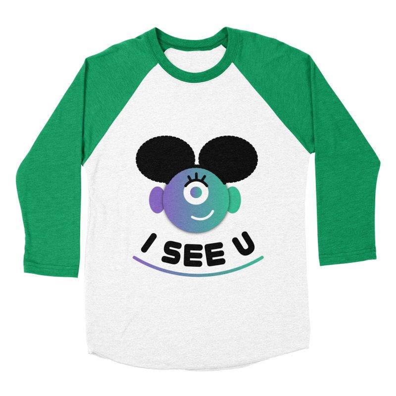 I See You! Men's Baseball Triblend Longsleeve T-Shirt by ashleysladeart's Artist Shop
