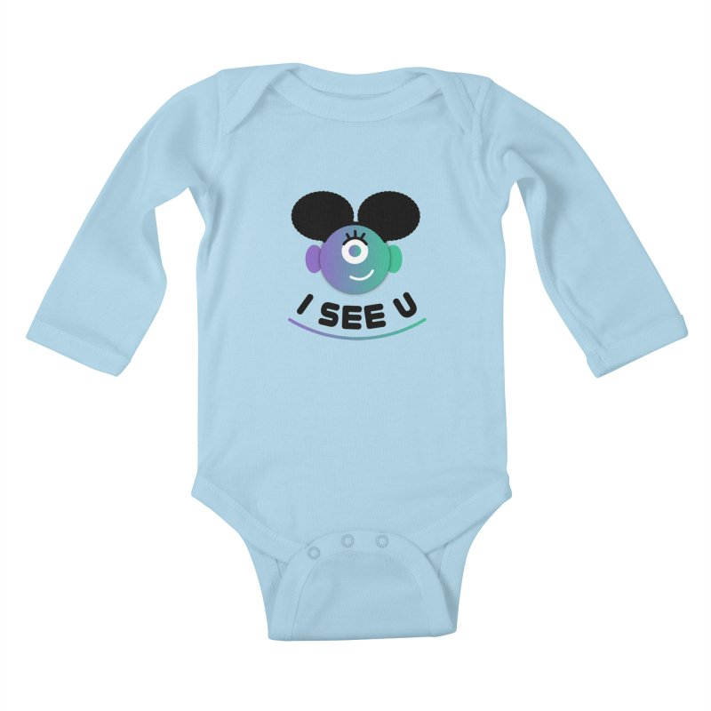 I See You! Kids Baby Longsleeve Bodysuit by ashleysladeart's Artist Shop