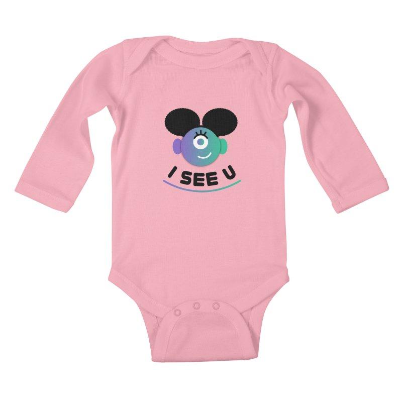 I See You! Kids Baby Longsleeve Bodysuit by ashleysladeart's Artist Shop