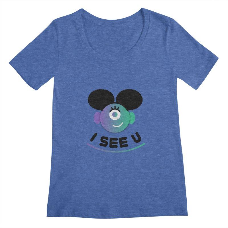 I See You! Women's Regular Scoop Neck by ashleysladeart's Artist Shop