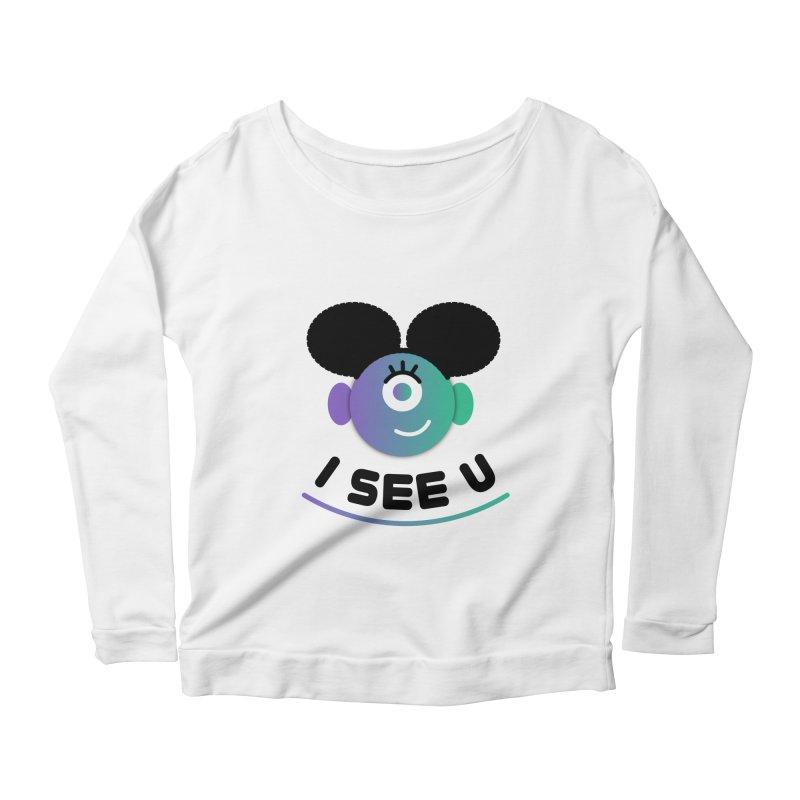 I See You! Women's Scoop Neck Longsleeve T-Shirt by ashleysladeart's Artist Shop