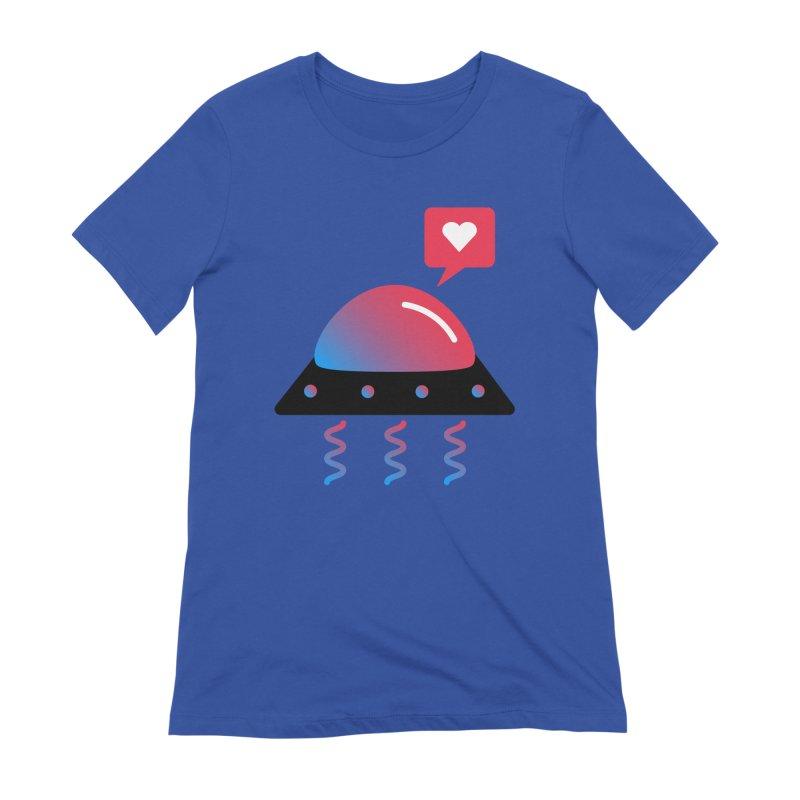 Space Love Women's Extra Soft T-Shirt by ashleysladeart's Artist Shop