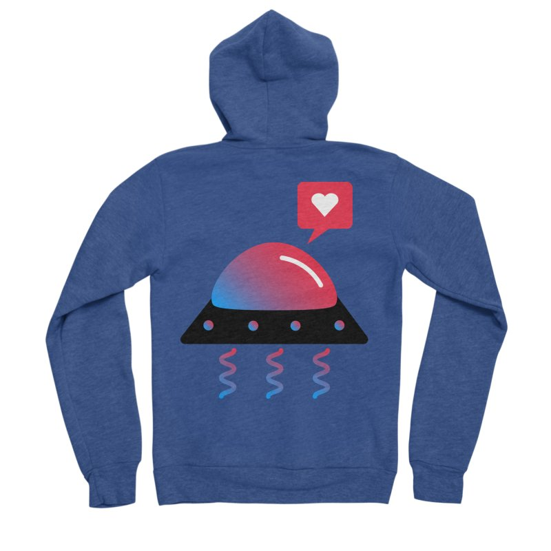 Space Love Women's Sponge Fleece Zip-Up Hoody by ashleysladeart's Artist Shop
